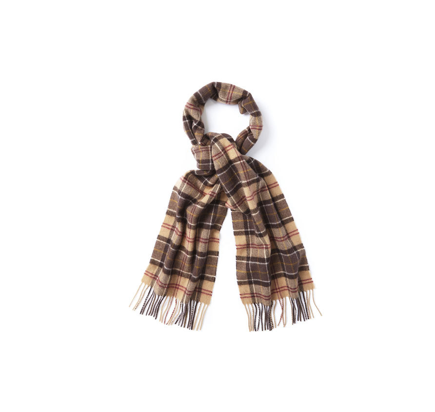 Barbour Tartan Lambswool Scarf Muted Barbour Lifestyle: from the Classic Tartan capsule