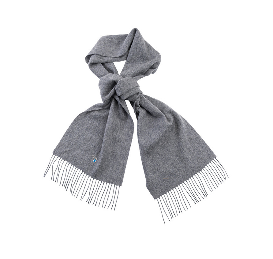 Barbour Barbour Plain Lambswool Scarf Light Grey Barbour Lifestyle: from the Classic capsule