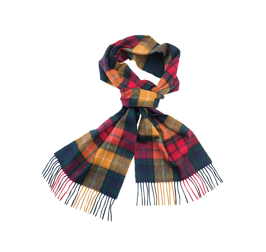 Barbour New Check Tartan Scarf Modern Barbour Lifestyle: from the Classic Tartan collection