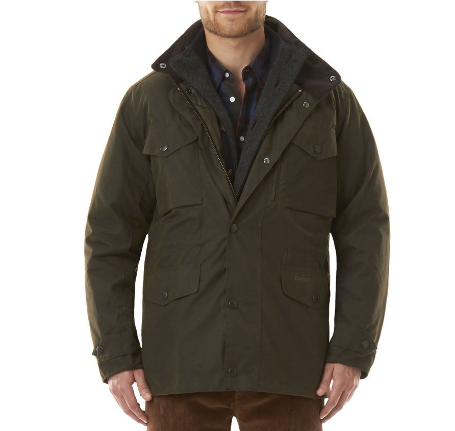Barbour Sapper Waxed Jacket Olive Barbour Lifestyle: from the Storm capsule