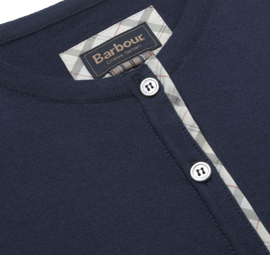 Barbour Hamerley Cropped Cardigan Navy