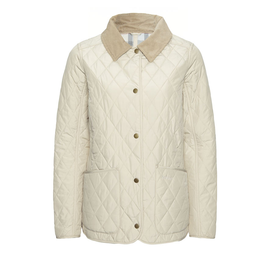 Barbour Spring Annandale Quilted Jacket Stone Barbour LIfestyle: From the Dress Tartan capsule