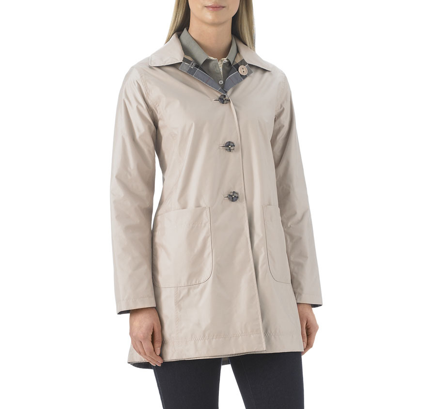 Barbour Waterproof Reversible Derby Mac Cream