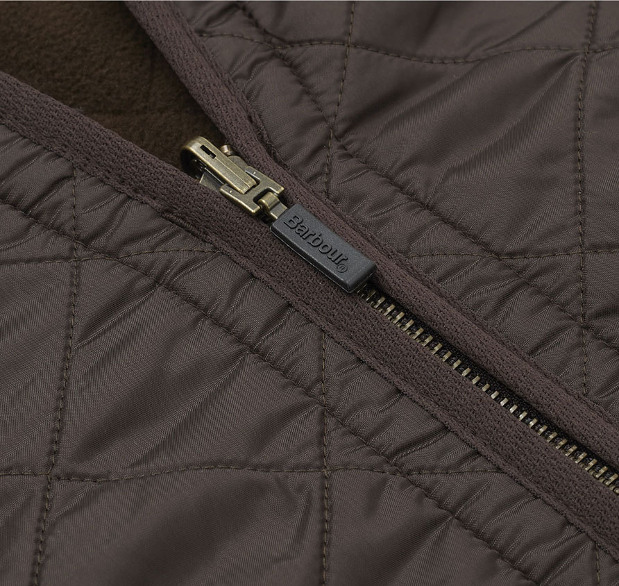 Barbour Polarquilt Waistcoat Zip-In Liner Brown