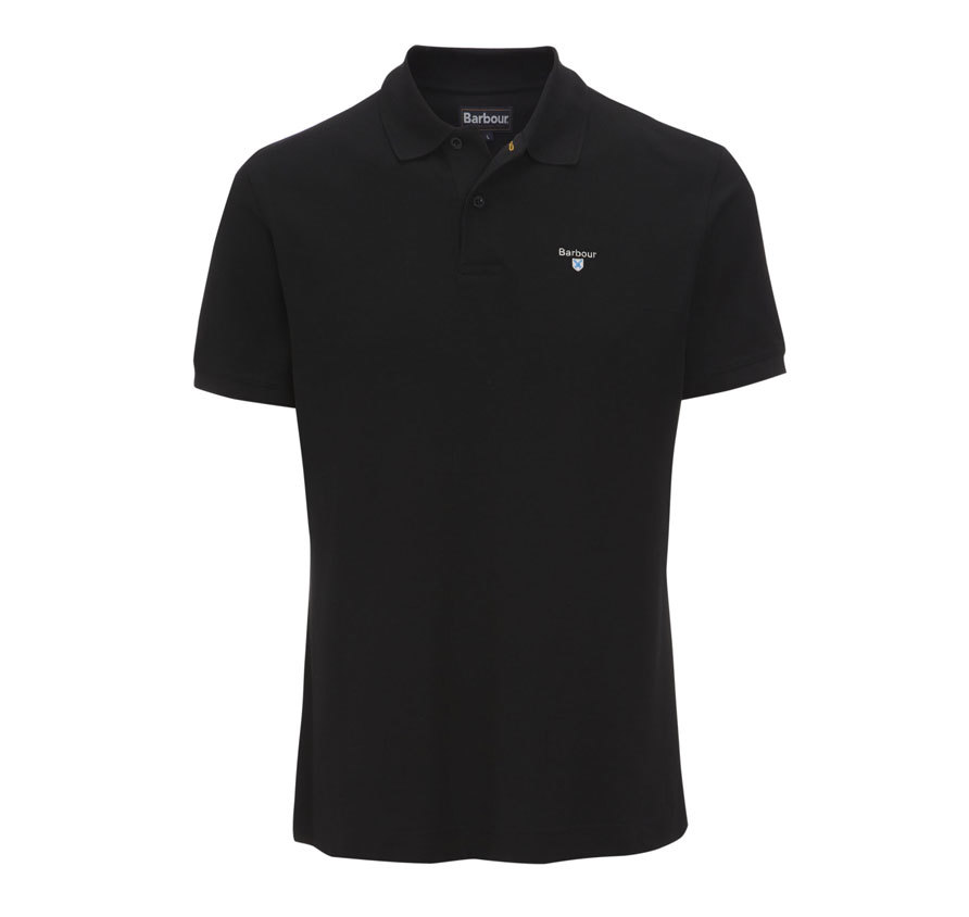 Barbour Barbour Sports Polo Shirt Black Barbour Lifestyle: From the Core Essentials capsule