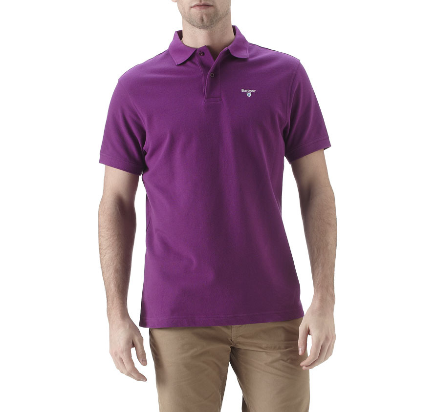 Barbour Sports Polo Shirt Royal Purple