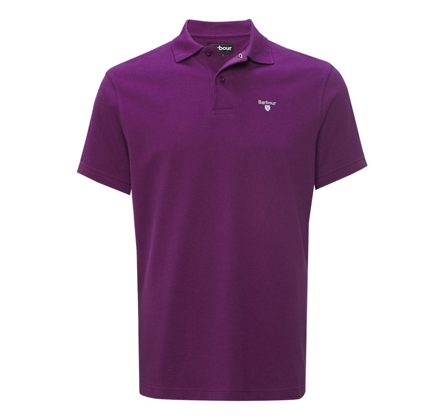 Barbour Sports Polo Shirt Royal Purple Barbour Lifestyle: From the Core Essentials capsule