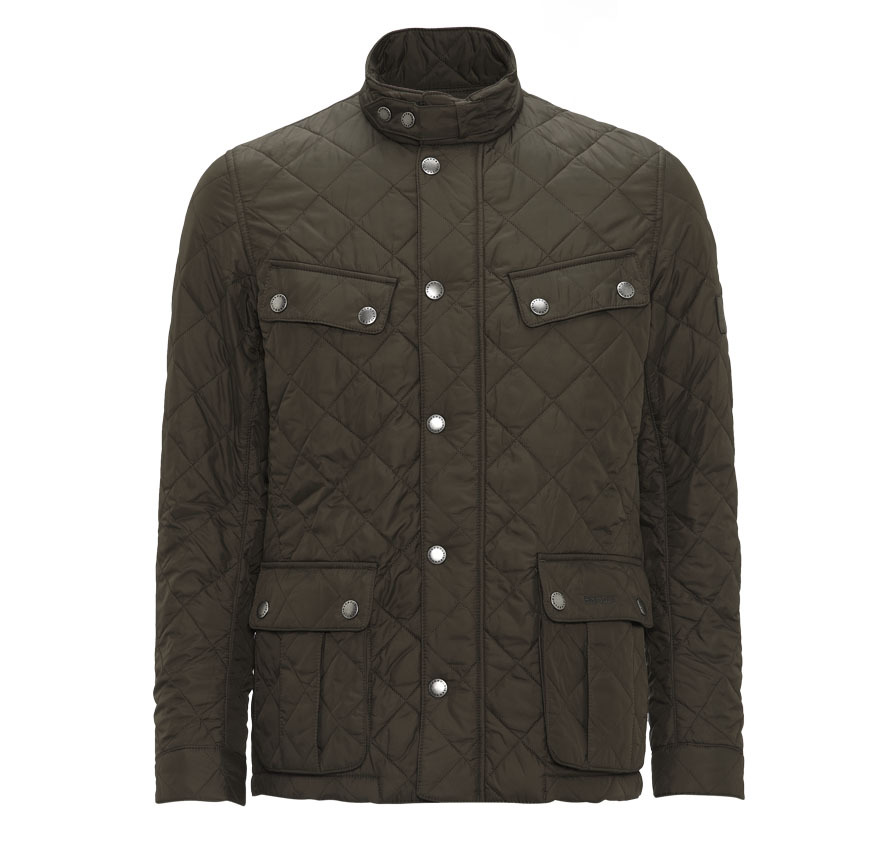 Barbour Ariel Quilted Jacket Oliva Barbour International: From the GB Tourer capsule