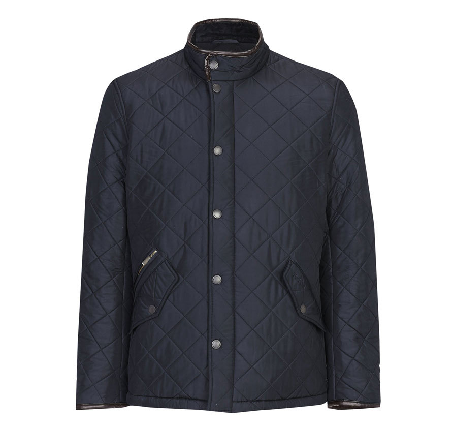 Barbour Powell Quilted Jacket Navy Barbour Lifestyle: from the Hacking capsule