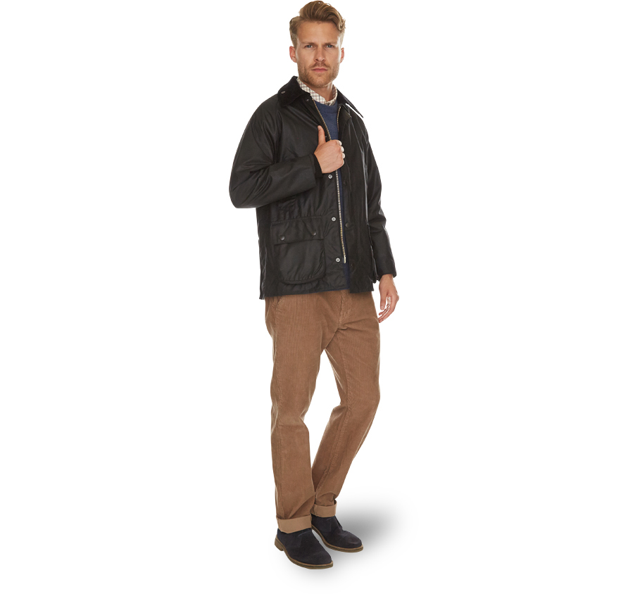 Barbour Bedale Jacket Black