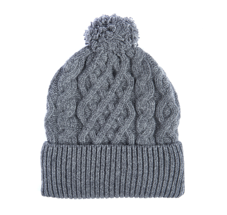 Barbour Cable Knit Beanie Grey Barbour Lifestyle: From the Great Coat collection