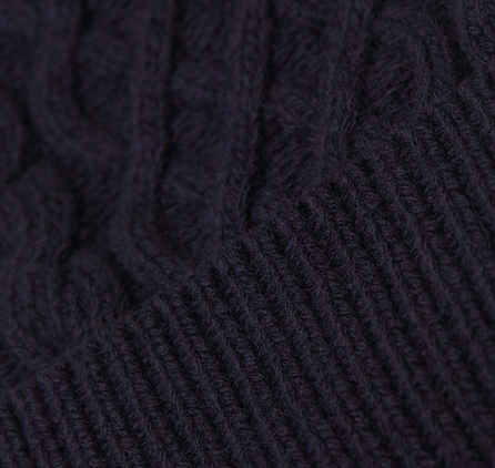 Barbour Cable Knit Beanie Navy