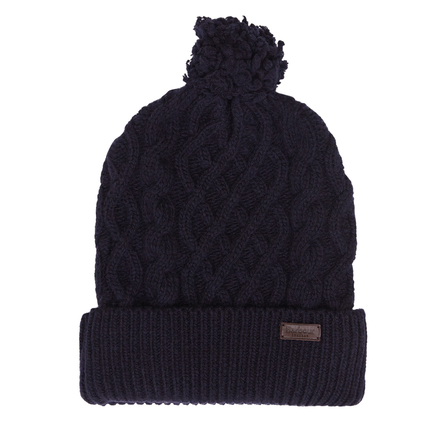 Barbour Cable Knit Beanie Navy Barbour Lifestyle: From the Great Coat collection