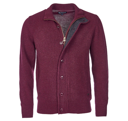 Barbour Patch Zip Thru Jumper Merlot Barbour Lifestyle: from the Core Essentials collection