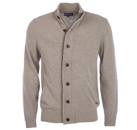 Barbour Patch Zip Thru Jumper Stone Barbour Lifestyle: from the Core Essentials collection