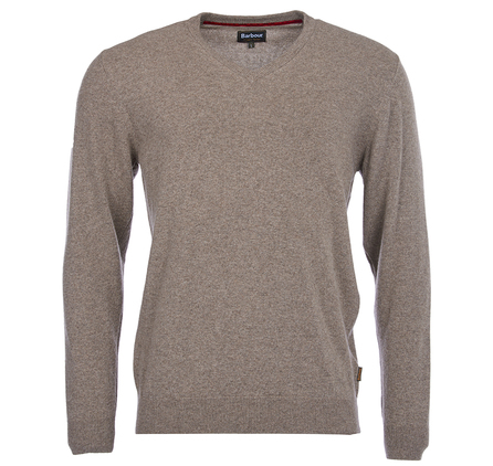 Barbour Harrow V Neck Jumper M Brown Barbour Lifestyle: from the Tartan Collection