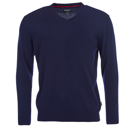 Barbour Harrow V Neck Jumper Navy Barbour Lifestyle: from the Tartan Collection