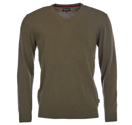 Barbour Harrow V Neck Jumper Dark Olive Barbour Lifestyle: from the Tartan Collection