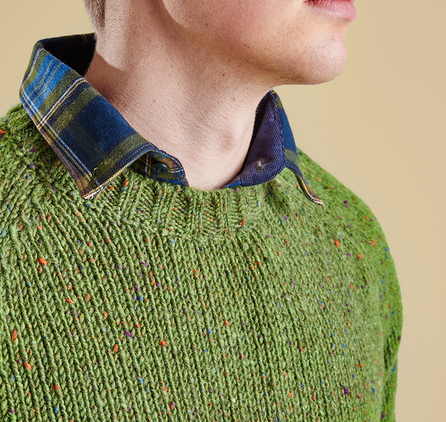 Barbour Netherby Crew Jumper Green