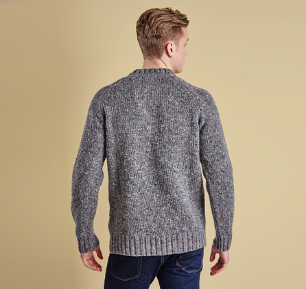 Barbour Netherby Crew Jumper Grey