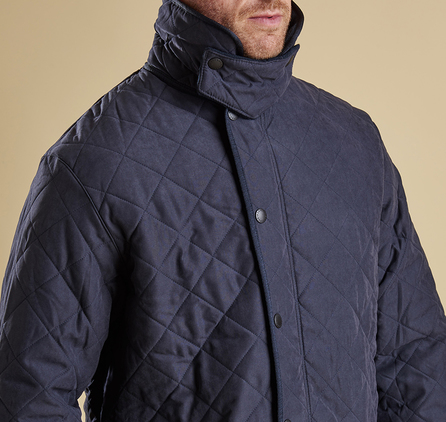 Barbour Microfibre Polarquilt Jacket Navy