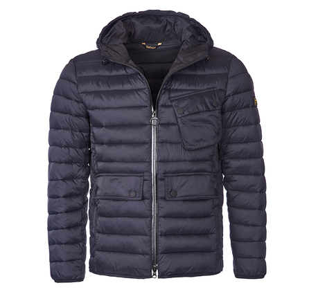 Barbour Barbour Ouston Hooded Quilted Jacket Black Barbour International