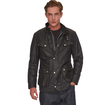 Barbour Duke Waxed Jacket Navy