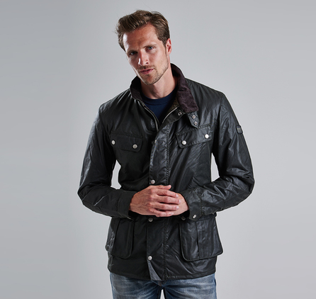 Barbour Duke Waxed Jacket Sage