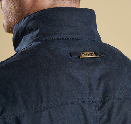 Barbour Ogston Waxed Jacket Navy