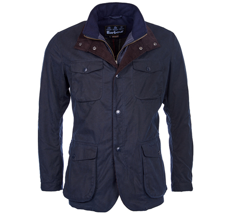 Barbour Ogston Waxed Jacket Navy Barbour Lifestyle: From the Tartan collection