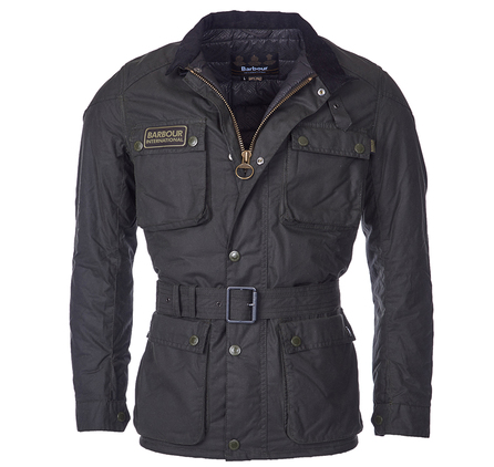 Barbour Barbour Blackwell Slim Fit Wax Jacket Barbour International: From the Winter Biker collection