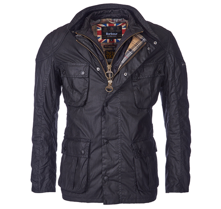 Barbour Gauge Tailored Fit Wax Jacket Barbour International: From the Winter Biker collection
