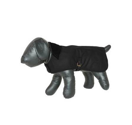 Waxed Cotton Dog Coat Black