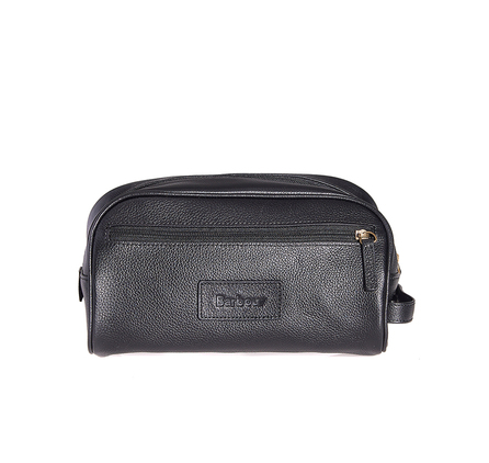 Barbour Barbour Leather Washbag Black Barbour LIfestyle: from the Classic capsule