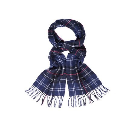 Barbour Barbour Tartan Lambswool Scarf Navy Barbour Lifestyle: from the Classic Tartan capsule