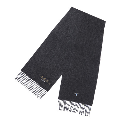 Barbour Plain Lambswool Scarf Charcoal Barbour Lifestyle: from the Classic capsule