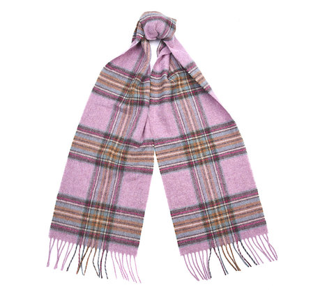 Barbour Country Check Scarf Pink Barbour Lifestyle: From the Classic collection