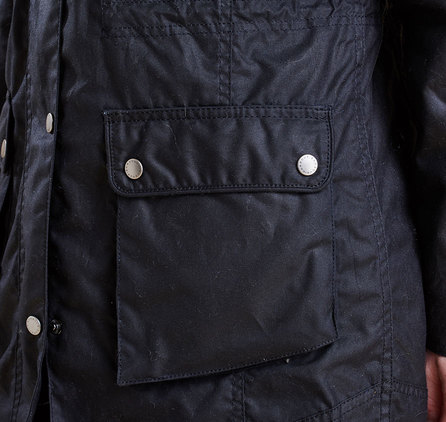 Barbour Carribena Wax Jacket Navy