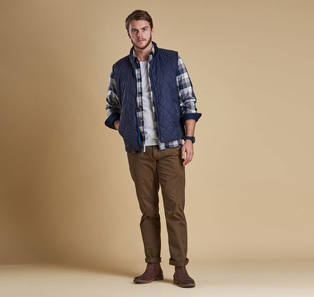 Barbour Keelson Quilted Jacket Navy