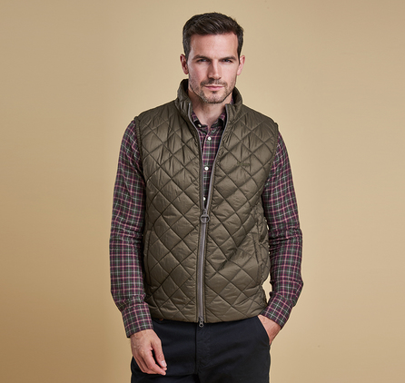 Barbour Keelson Quilted Jacket Olive
