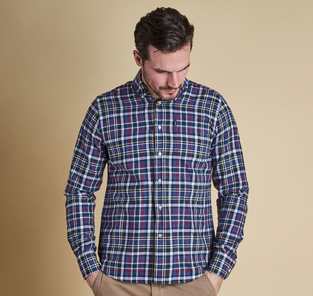 Barbour Alvin Tailored Regular Fit Shirt Blue Marl