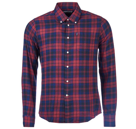 Barbour Seth Tailored Fit Shirt Red Barbour Lifestyle: From the Core Essentials collection