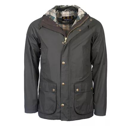 Barbour Hooded Waterproof Bedale Jacket Sage Barbour Heritage: From the Ancient Tartan collection