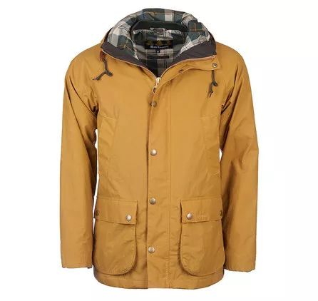 Barbour Hooded Waterproof Bedale Jacket Yellow Barbour Heritage: From the Ancient Tartan collection