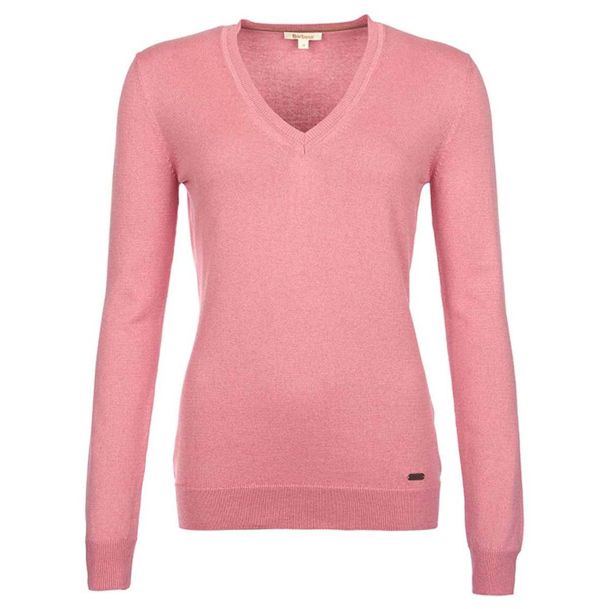 Barbour Barbour Cotton Cashmere V Neck Vintage Rose Barbour Lifestyle: From the Essentials collection