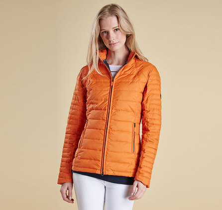 Barbour Vitoria Barbour Chock Quilted Jacket Orange