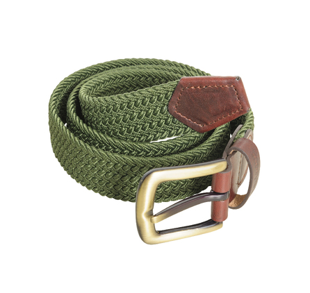 Barbour Stretch Webbing Leather Belt Khaki Barbour Lifestyle: from the Classic capsule