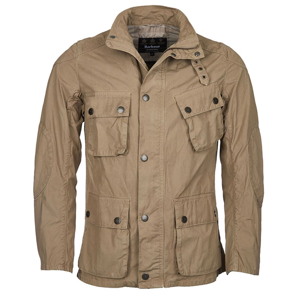 Barbour B.Intl Smokey Jacket Stone Barbour International: From the Ride to the Sun collection