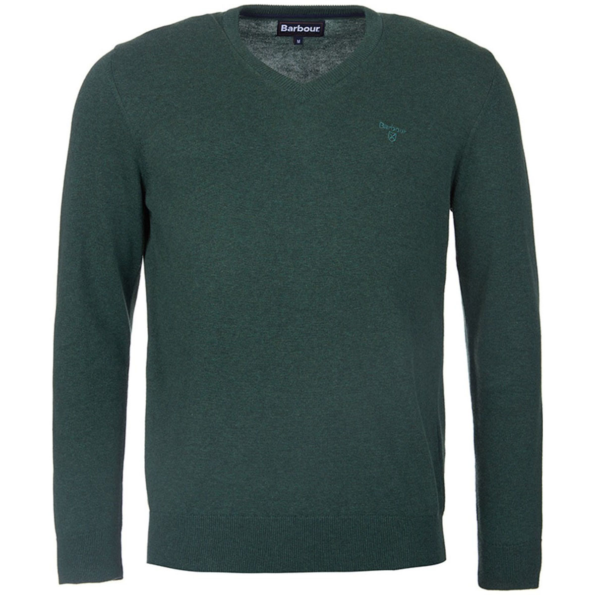 Pima Cotton V Neck Racing Green Barbour Lifestyle: From the Core Essentials collection
