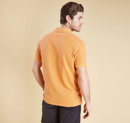 Barbour Washed Sports Polo Shirt Orange